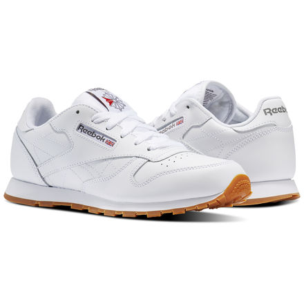 Reebok Shoes Unisex Classic Leather In White Gum Size 6 Retro Running Lifestyle Shoes Reebok Classic Classic Leather Kid Shoes
