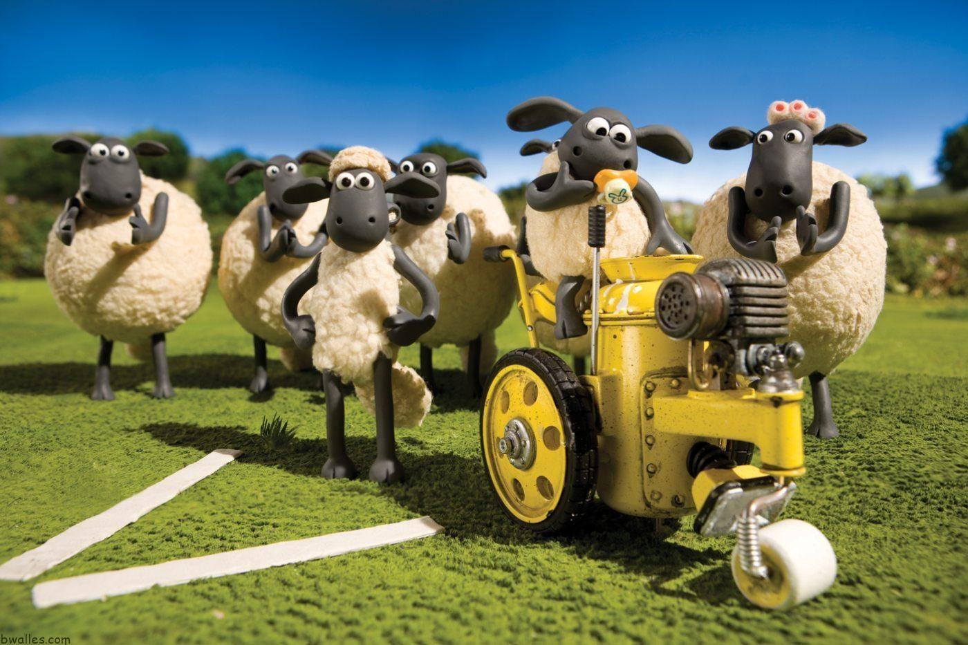 Shaun The Sheep Sunday Lawn ひつじのショーン イラスト ひつじの