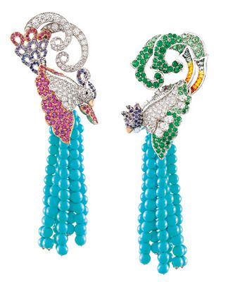 Birds of Paradise #earrings by Van Cleef & Arpels