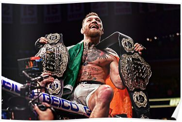 Champ Champ Colored Version Different Prospective Poster By Jey13 Mcgregor Wallpapers Conor Mcgregor Wallpaper Wallpaper Pictures