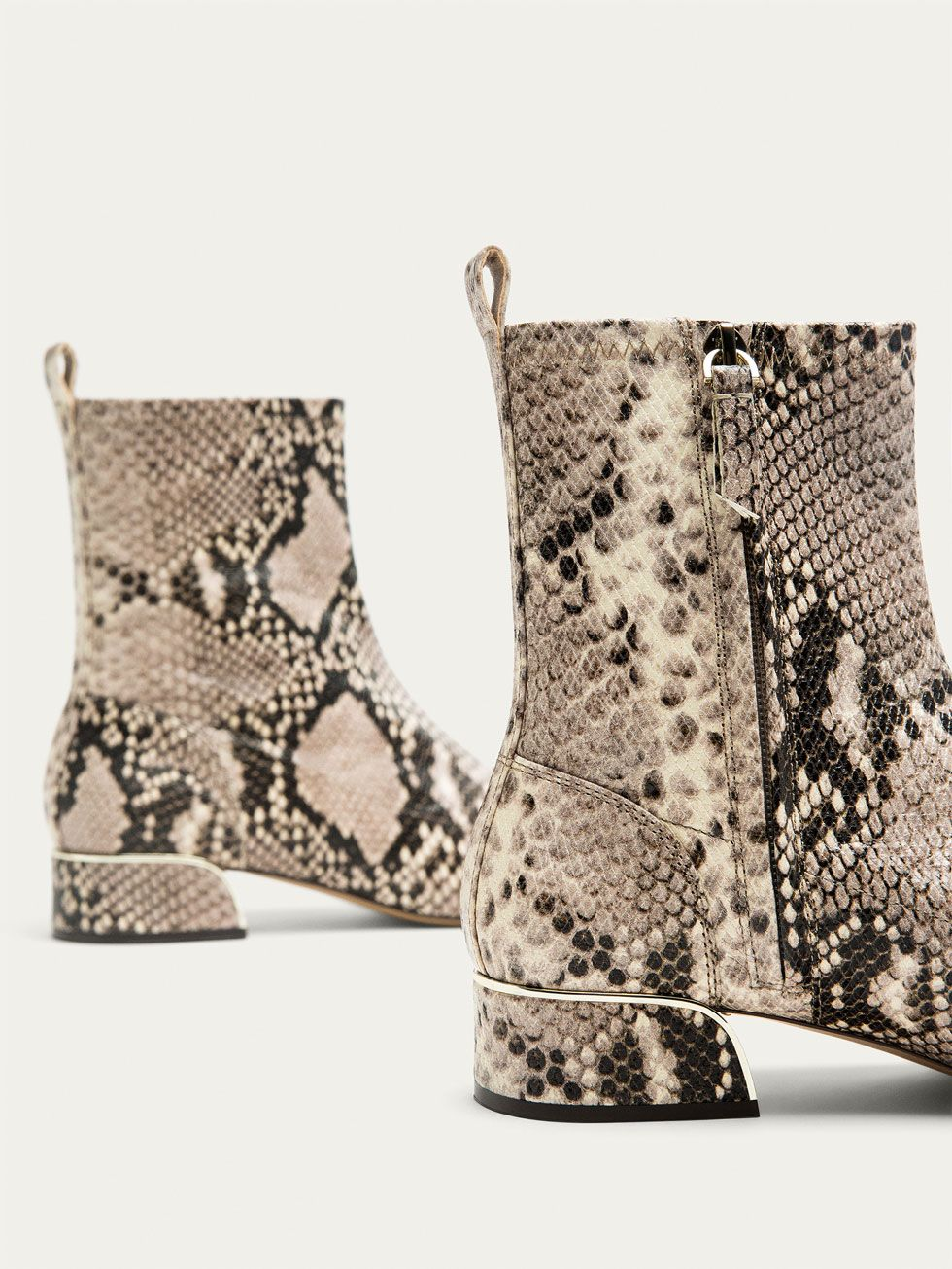 a91ac091c7d Fall Winter 2017 Women´s ANIMAL PRINT NAPPA LEATHER ANKLE BOOTS at ...