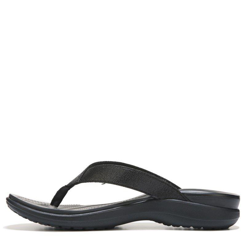 e72a9b14737 Crocs Women s Capri V Shimmer Flip Flop Sandals (Black)