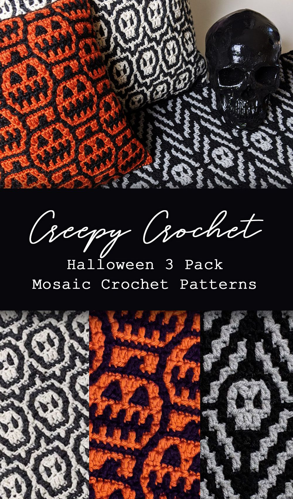 Creepy Crochet 3 Pack of Mosaic Crochet Patterns by Sixel