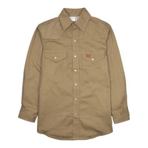 Rasco Khaki Welder Shirt S Key Features Not Fire Retardant Long Sleeve 100 Percent Cotton Metal Snaps Shirts Classic Shirt Father Clothes