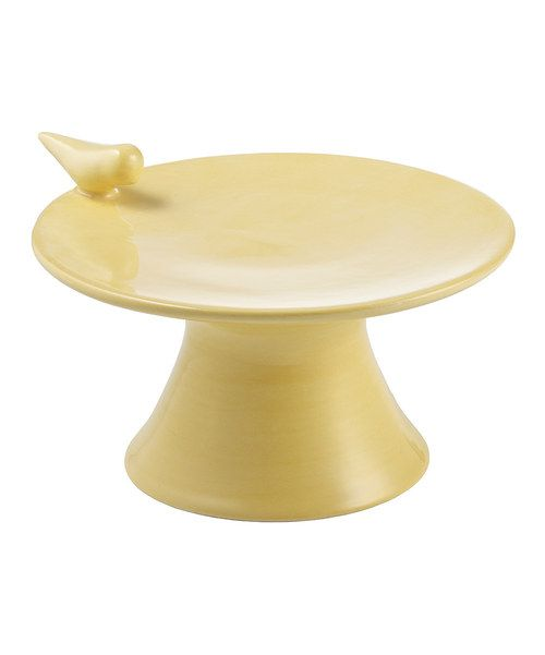 Another great find on #zulily! Yellow Bird Cake Stand by Magenta #zulilyfinds
