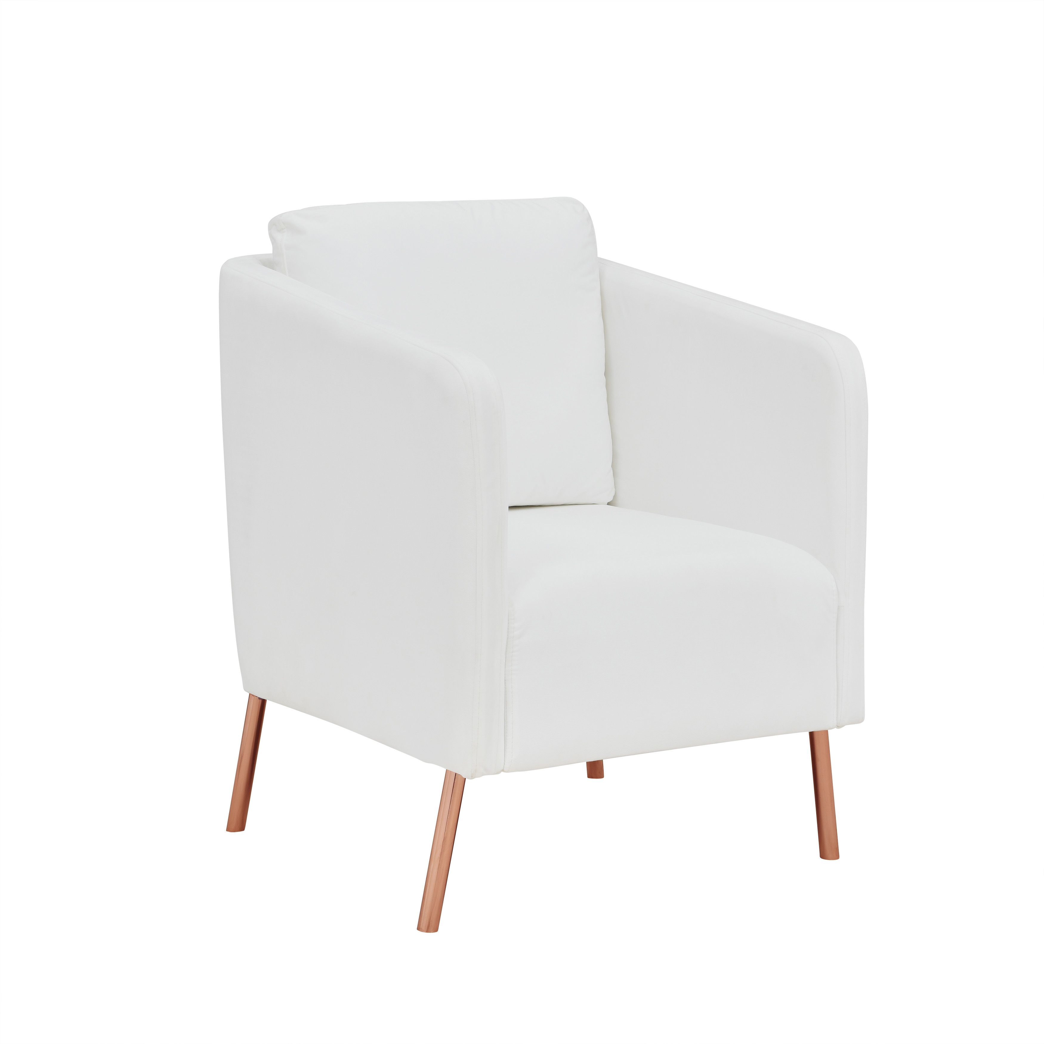 Park Art My WordPress Blog_White Accent Chair With Gold Legs