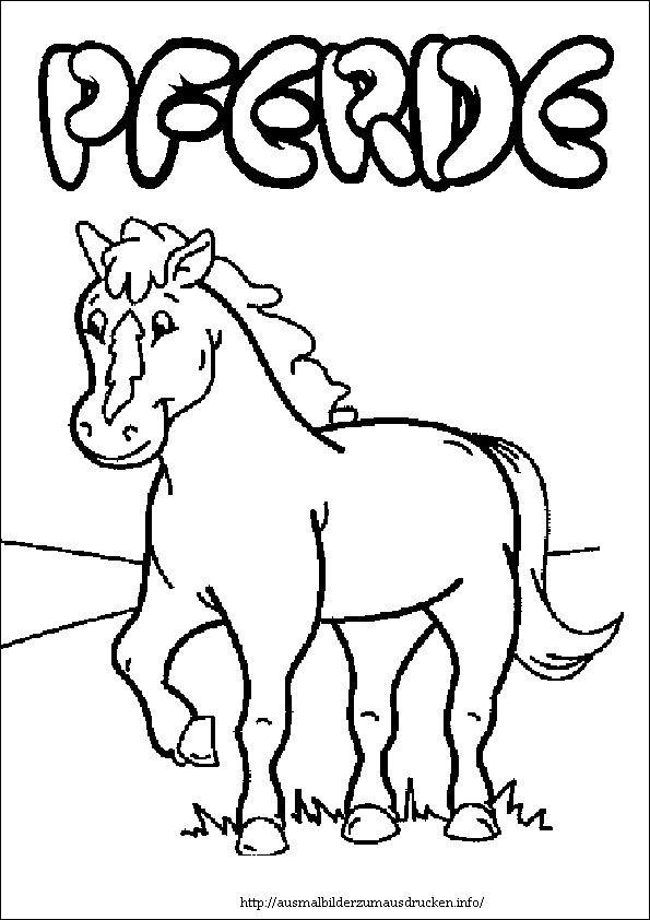 pferde 03 bilder zum ausmalen  ausmalbilder pferde