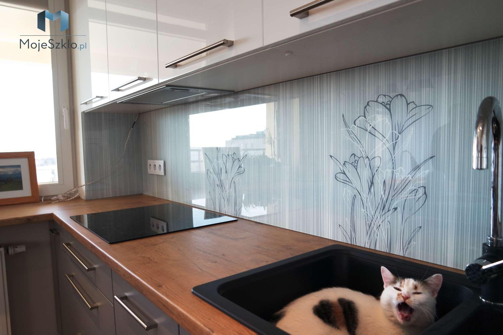 Szklo Z Grafika Kwiaty Home Decor Decor Kitchen Island