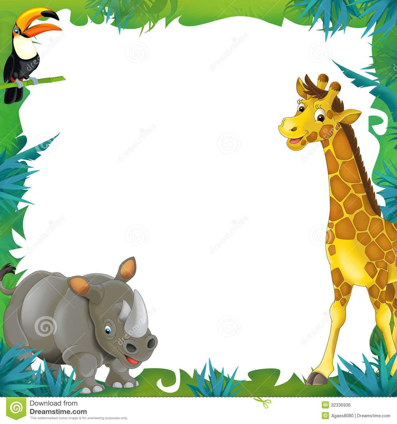 Cartoon Safari - Jungle - Frame Border Template ...