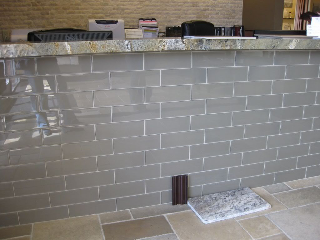 Grey Gl Subway Tile For The Kitchen