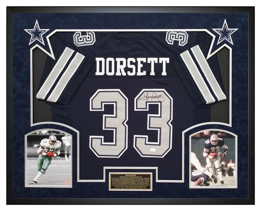 Tony Dorsett Autographed Dallas Cowboys Jersey - Custom Framed Shadow Box -  JSA Will display nicely in any Fan Room c6d3f4b63