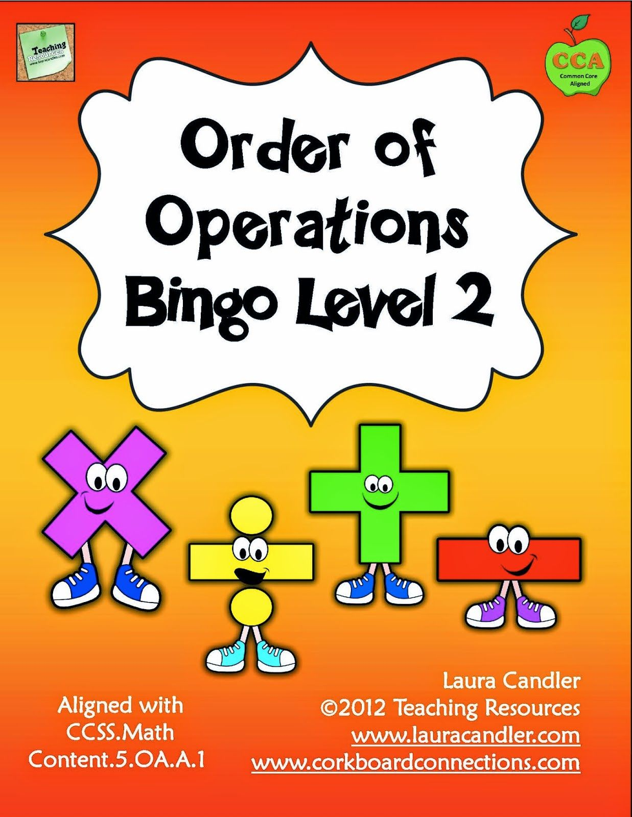 Picture of Order of Operations Bingo Game from http://www ...