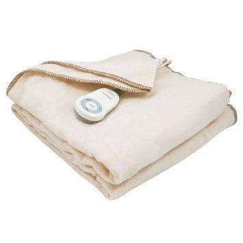 Sunbeam Fleece Throw Electric Heated Warming Heating Blanket Home Choice Seashell