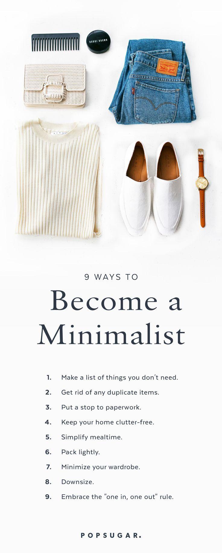 9 Ways to Be a Minimalist   Minimalist living, Minimalist ...