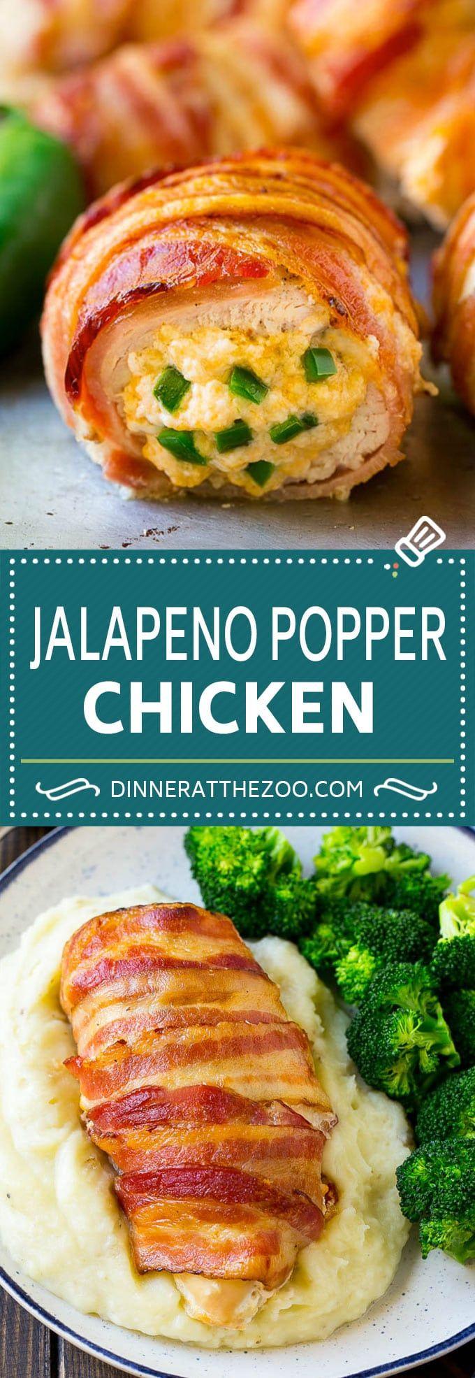 Jalapeno Popper Chicken Recipe   Bacon Wrapped Chicken   Stuffed Chicken   Low Carb Chicken