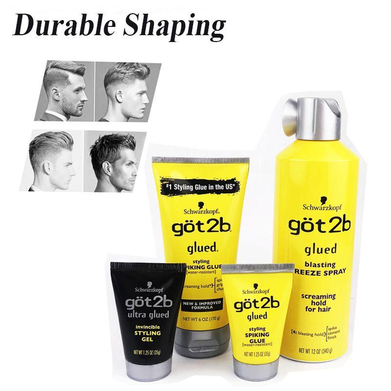 Hair Gel Hair Styling Got2b Waterproof Hair Styling Products Hair Custom Shape Glued 150ml Makeup Stage Salon Hair Style Hair Gel Hair Glue Gel
