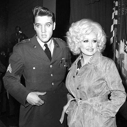 Elvis Presley and Dolly Parton | Elvis presley photos, Elvis presley, Elvis