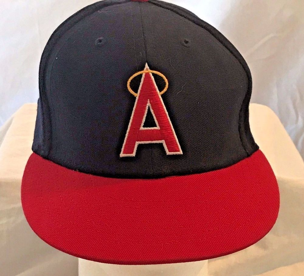 7b70afc06 American Needle California Angels Size 7 1/4 Scarlet Cooperstown Fitted Hat  #AmericanNeedle #CaliforniaAngels relisted 12.5.17 - Sold 12.31.17