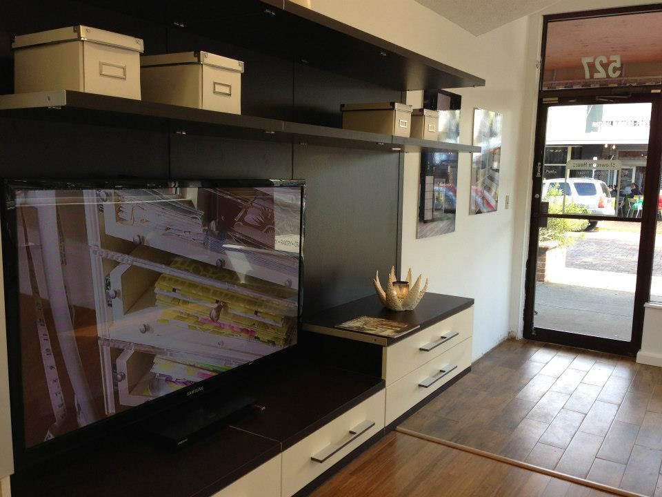 Modern Entertainment Center Winter Park FL Showroom CaliforniaClosets