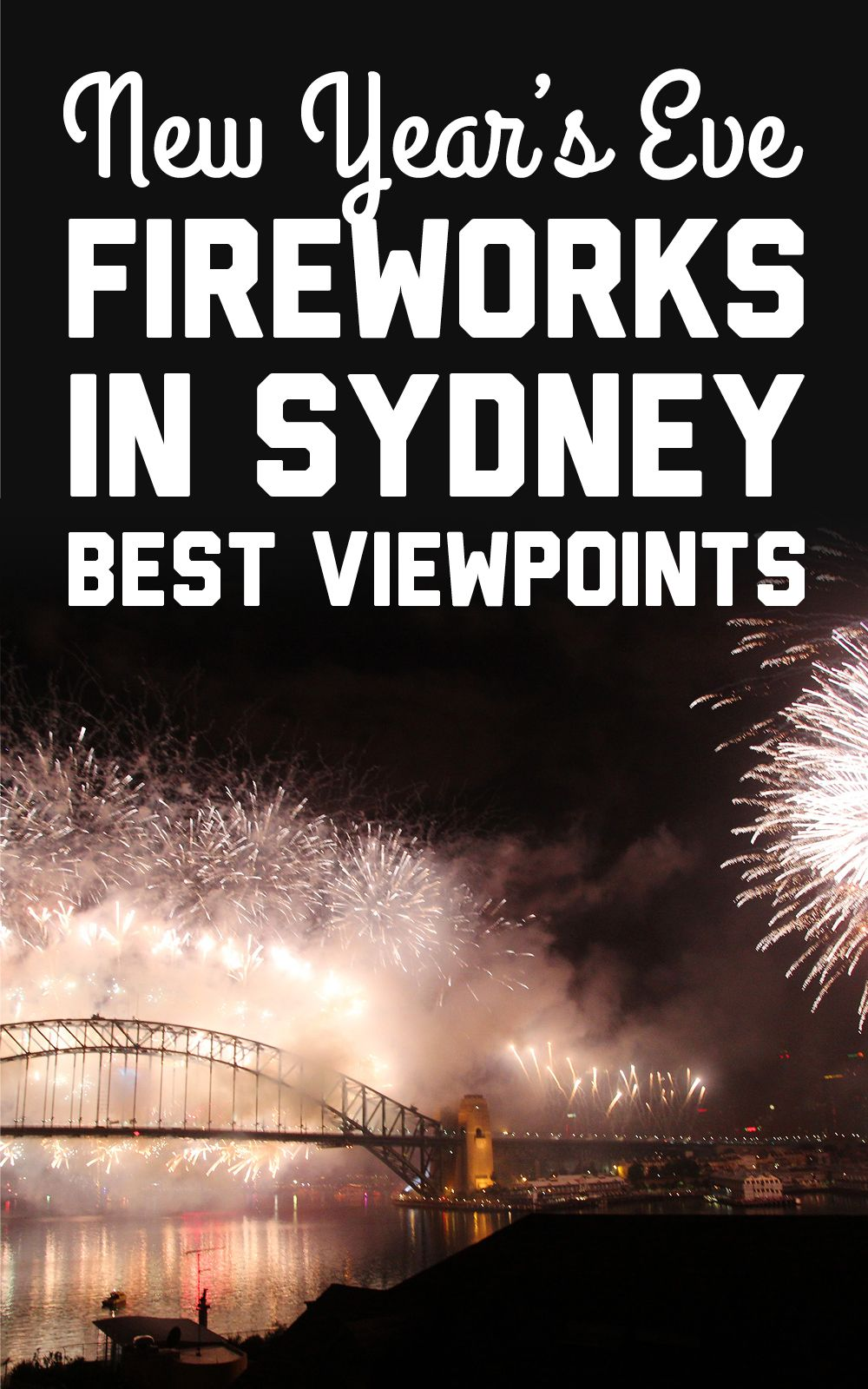 Where to see the New Year's Eve fireworks in Sydney New