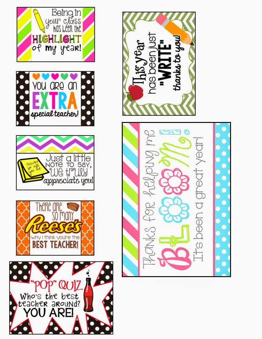 FREE Teacher Appreciation Gift Tags/Cards   MySunWillShine ...
