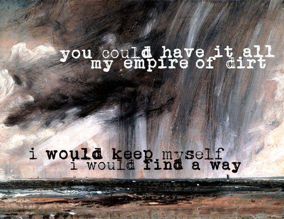 Nine Inch Nailsjohnny Cash Hurt Song Lyric Art Print Wall