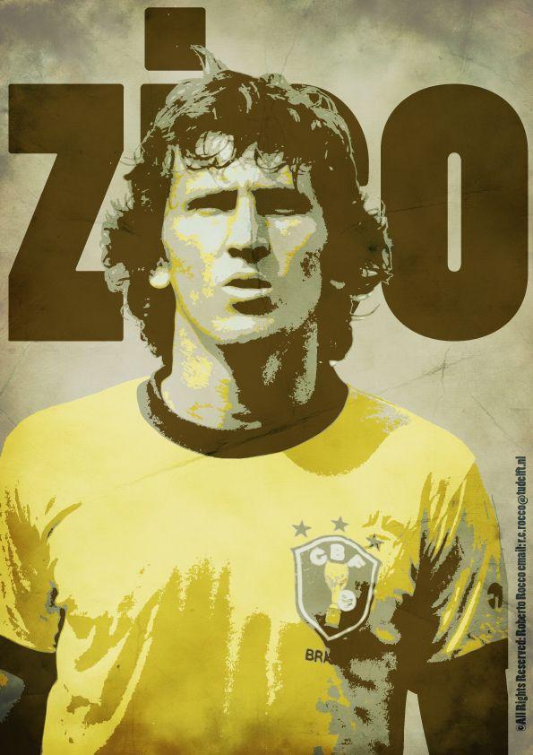 Zico Poster Football Wallpaper Zico Football Soccer