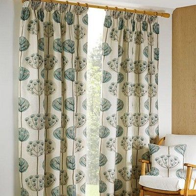 Natalie Tape Duck Egg Lined Curtains