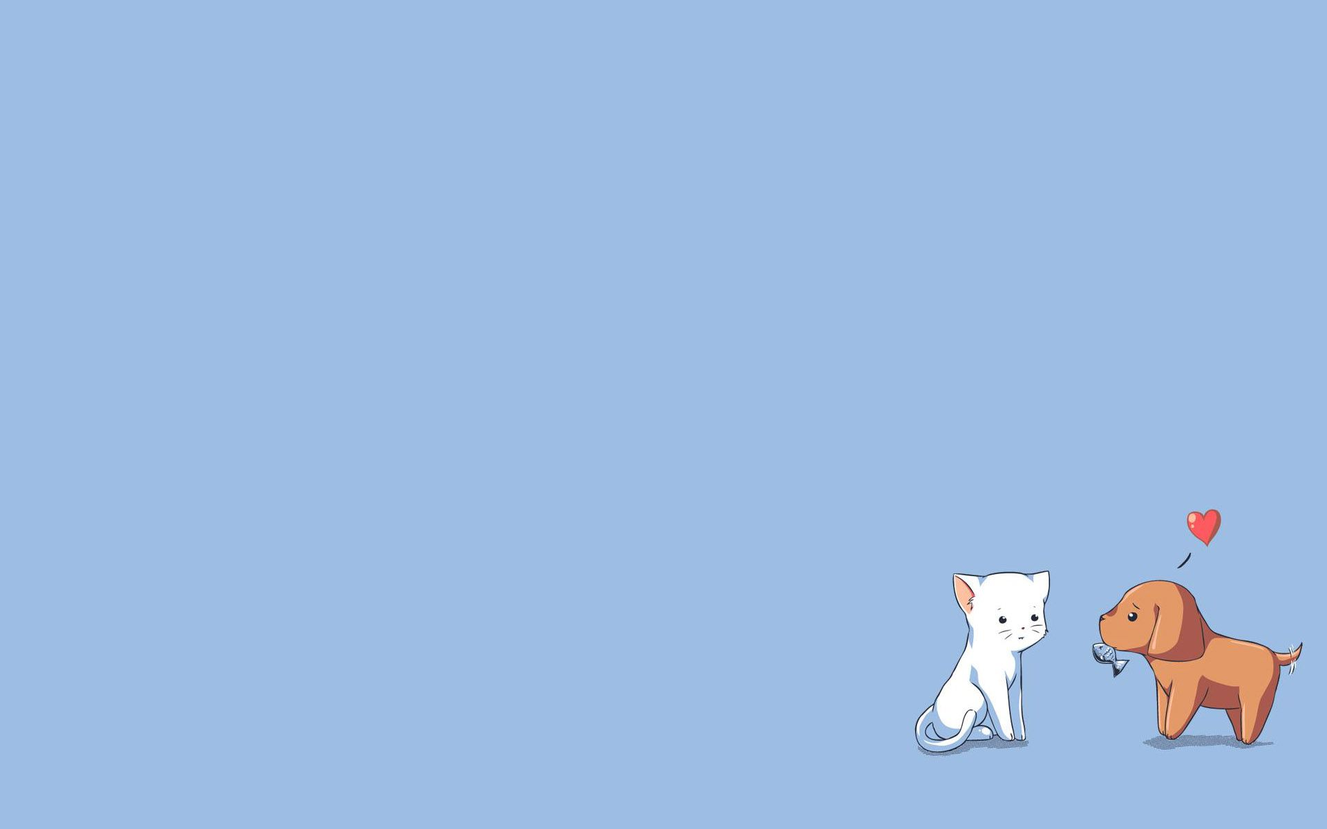 Cat And Dog Wallpaper Wallpaper In 2019 Cute Wallpapers Simple