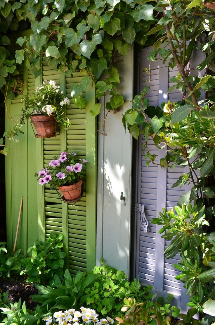 A French garden in Provence! Decorate Your Garden with Shutters This ...