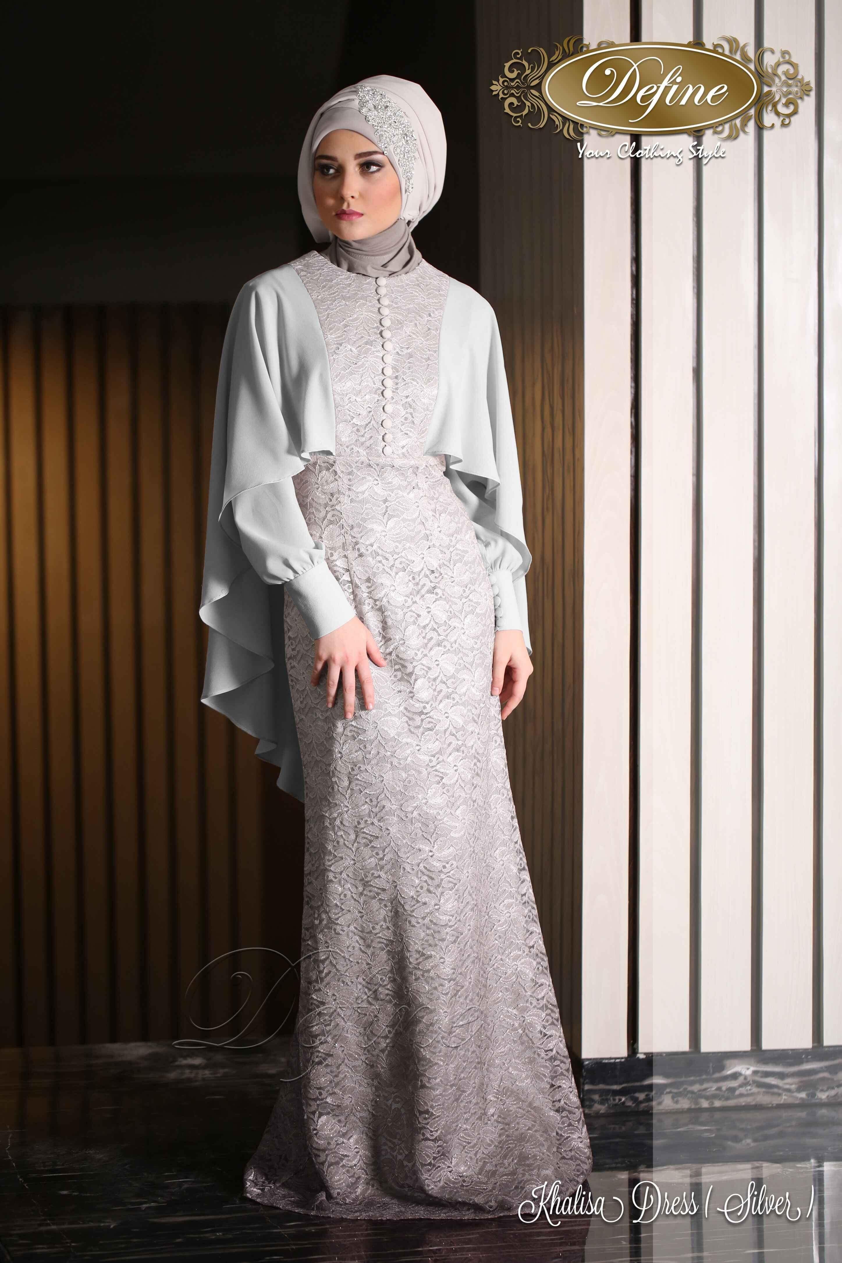 Khalisa Dress Gamis Pesta Mewah Yang Elegan Nan Syari Pinteres