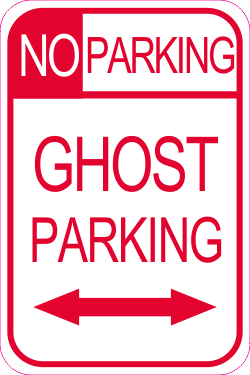 No Parking Ghost Parking Red Halloween Sign Halloween Signs Parking Signs Signs