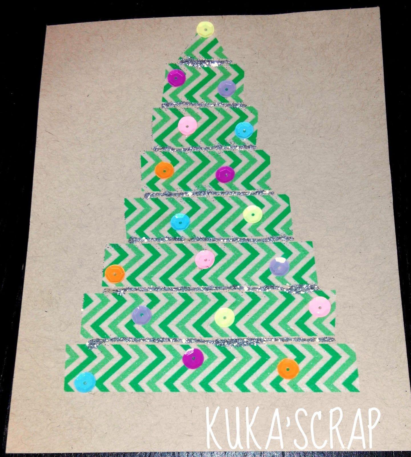 Kukascrap Tarjetas de Navidad fciles para nios SCRAP NADAL