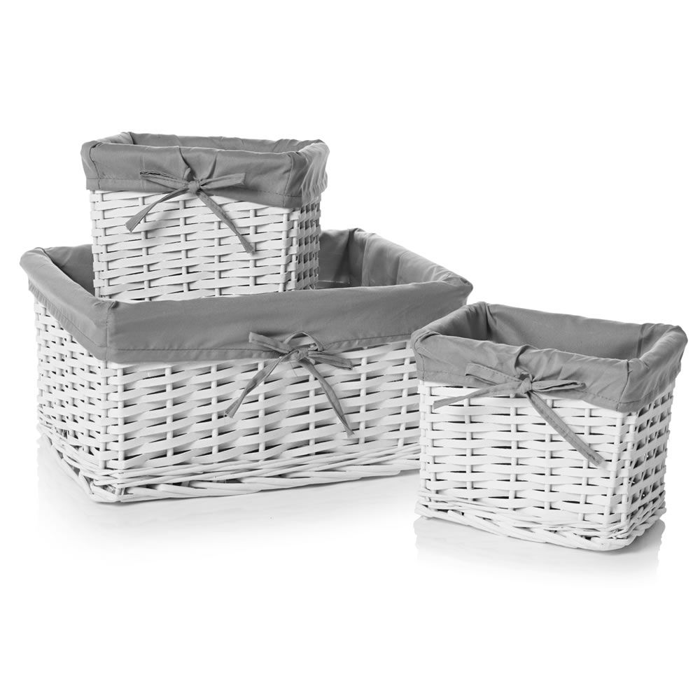 Wilko Bathroom Cabinet Wilko Set Of 3 Baskests White Alb12 Baby Pinterest Set Of