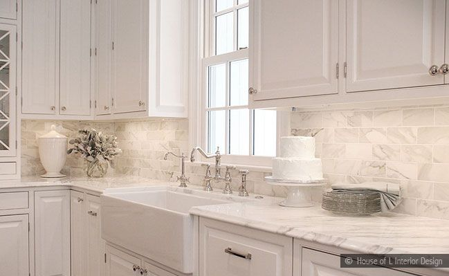 Kitchen Design. White Tile Backsplash KitchenSubway ...