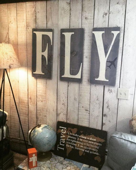 Airplane Bedroom Decor: Children's Nursery Decor