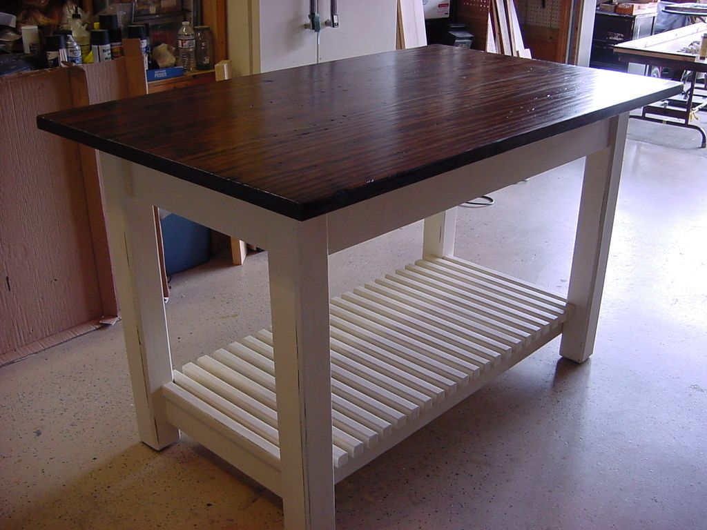 17 best images about kitchen island on pinterest kitchen work tables pine table and shelves - Kitchen Island Table
