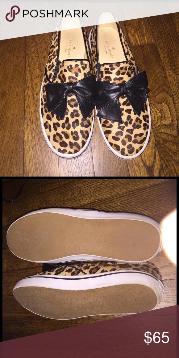 db4b2bc54acb kate spade delise leopard-print bow slip-on kate spade new york delise  leopard