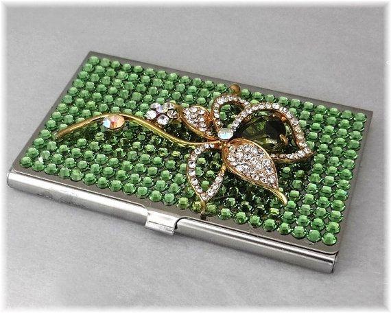 Swarovski rhinestone business card holder case metal credit card swarovski rhinestone business card holder case metal credit card holder business card case colourmoves