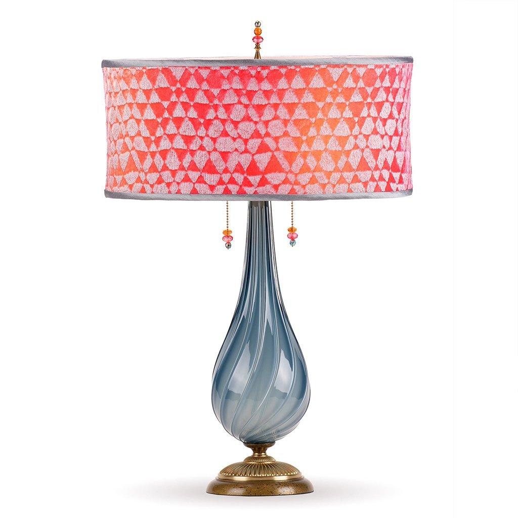 Sacha Table Lamp 159 Aj 136 By Kinzig Design Blue Gray Blown