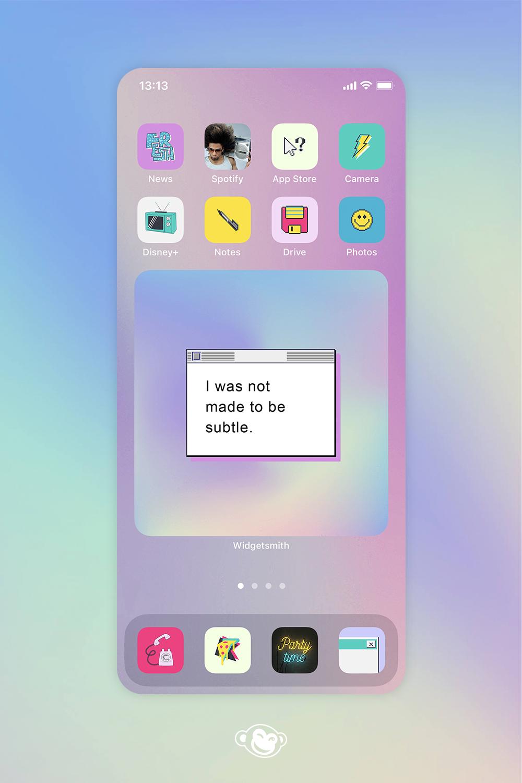 Ios 14 Home Screen Ideas Make Aesthetic Backgrounds Picmonkey Homescreen Screen Spotify App