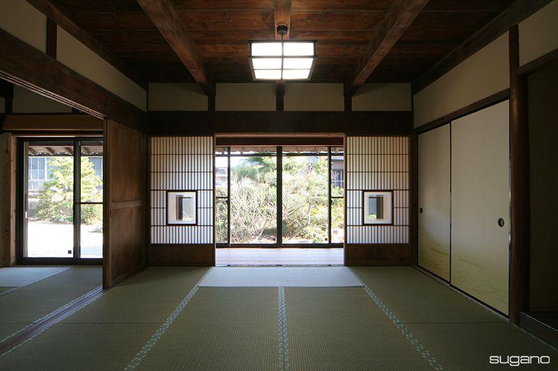 伝統的意匠はそのままに 壁と畳をお色直し 古民家再生 古民家 古