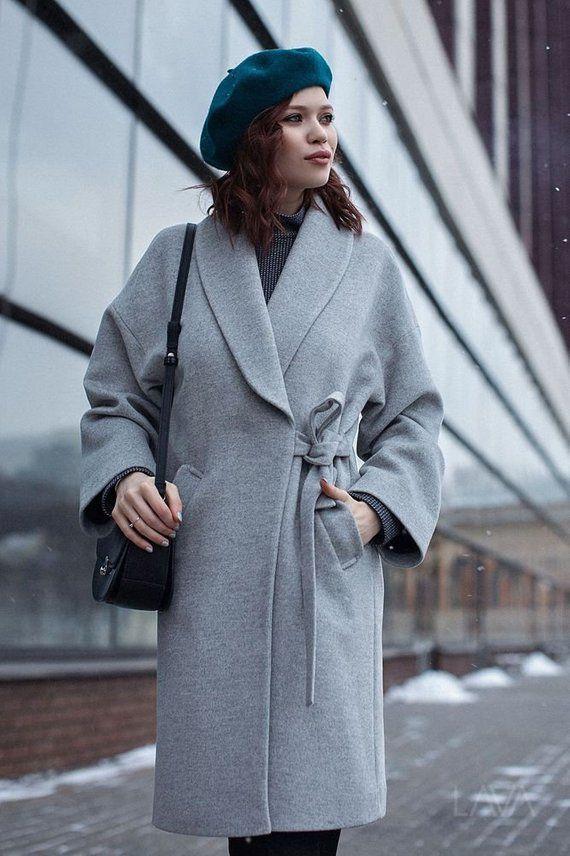 025e0588235 Gray Coat Grey Coat Gray Wool Coat Spring Women Coat Kimono Coat Trendy Coat  Short Coat Classy Coat