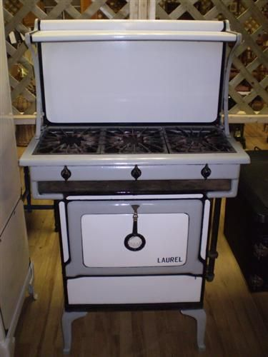 antique stove 1920 s laurel gas range in grey and white enamel rh pinterest com