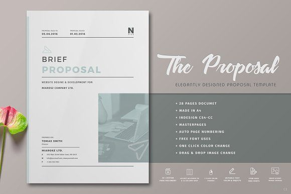 Proposal Pinterest Proposals, Brochures and Brochure template