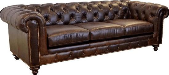 Newbury Leather Chesterfield Sofa Upholstery Brompton Brown