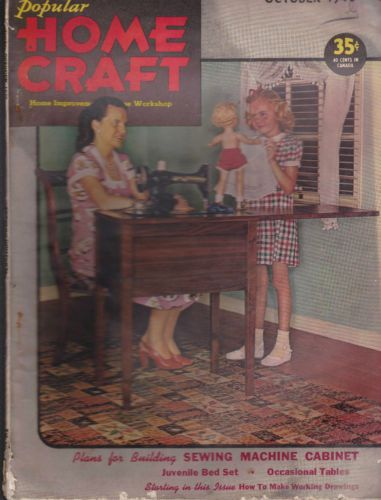 Popular-Home-Craft-Magazine-Girl-With-Doll-Clothes-Sewing-Machine-October-1946