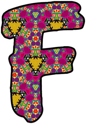 artbyjean paper crafts individual letters and numbers in two different styles from set a 40 with very bright colors