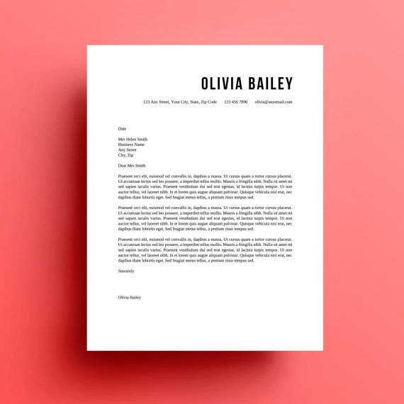 Resume Template, Cover Letter, instant download Template, Fonts - awesome resume template