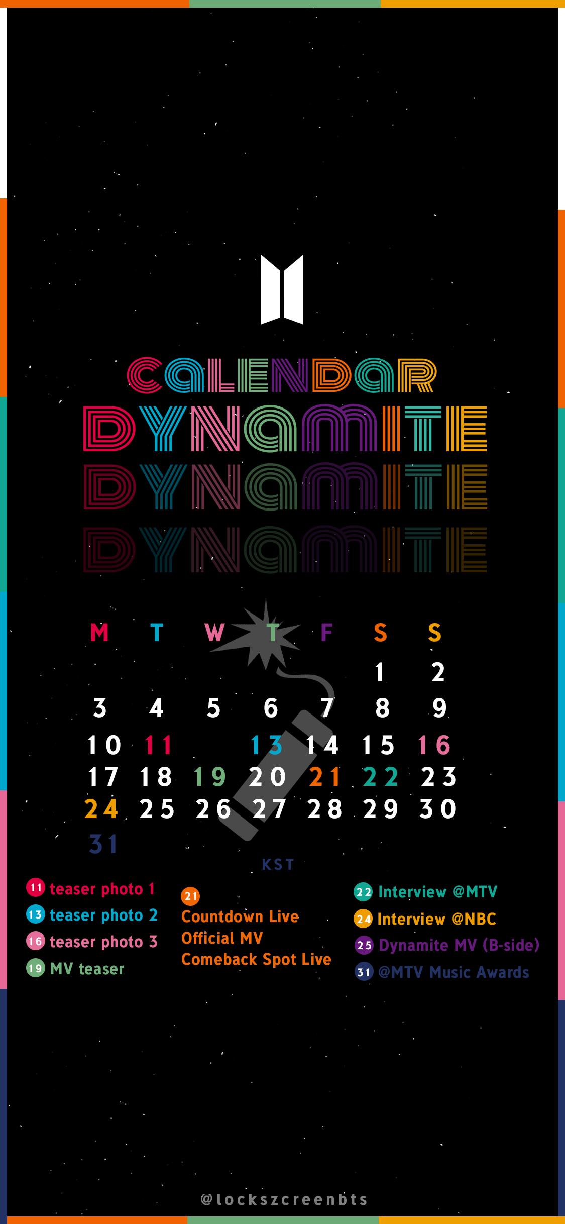 BTS Dynamite Wallpaper Lockscreen & Edit in 2020 Bts